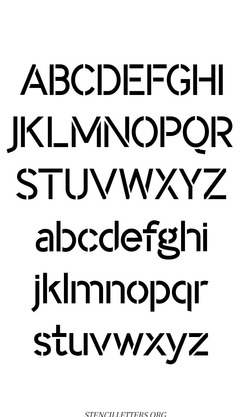 Classic Modern free printable letter stencils