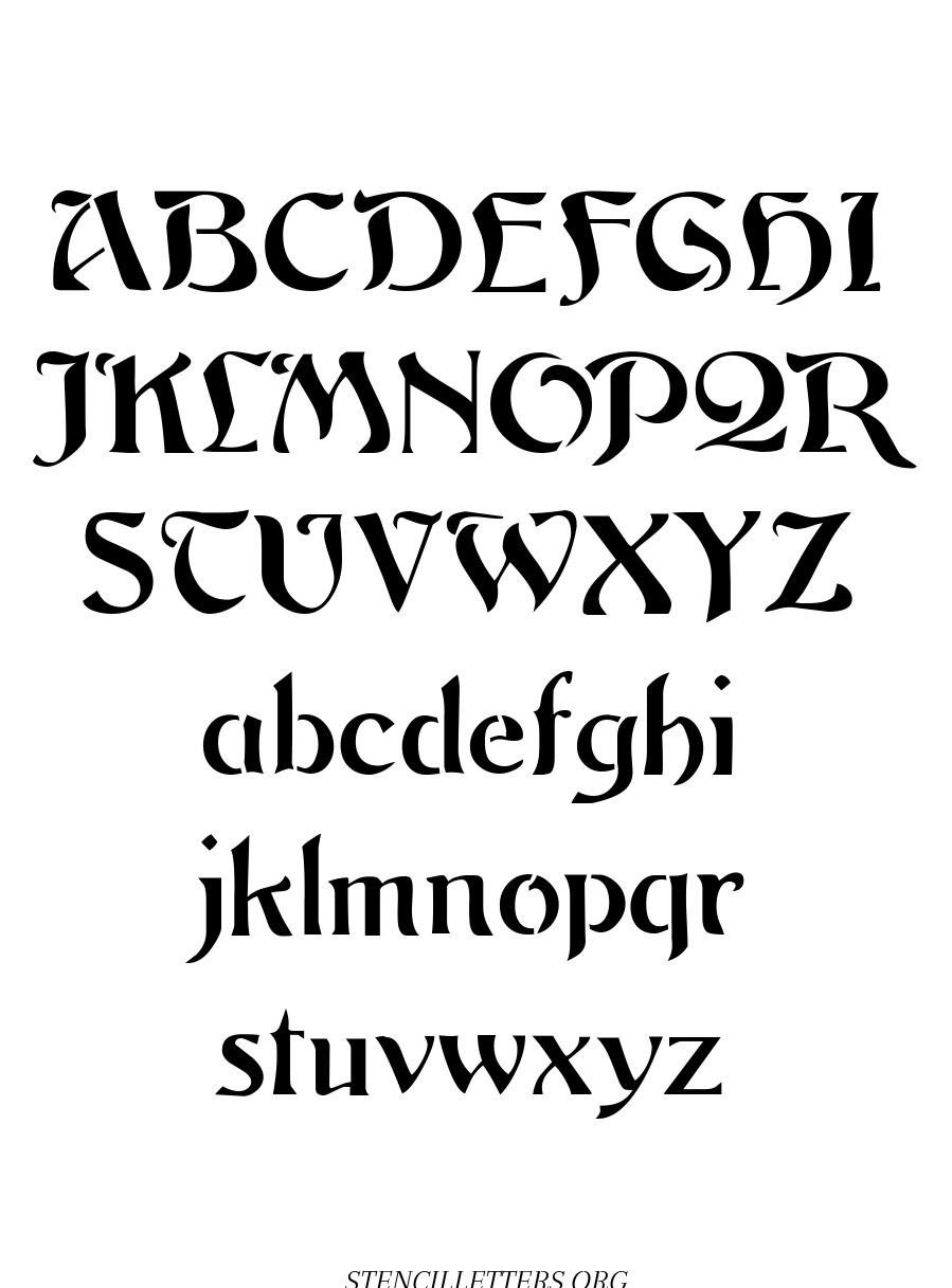 Deco Nouveau free printable letter stencils