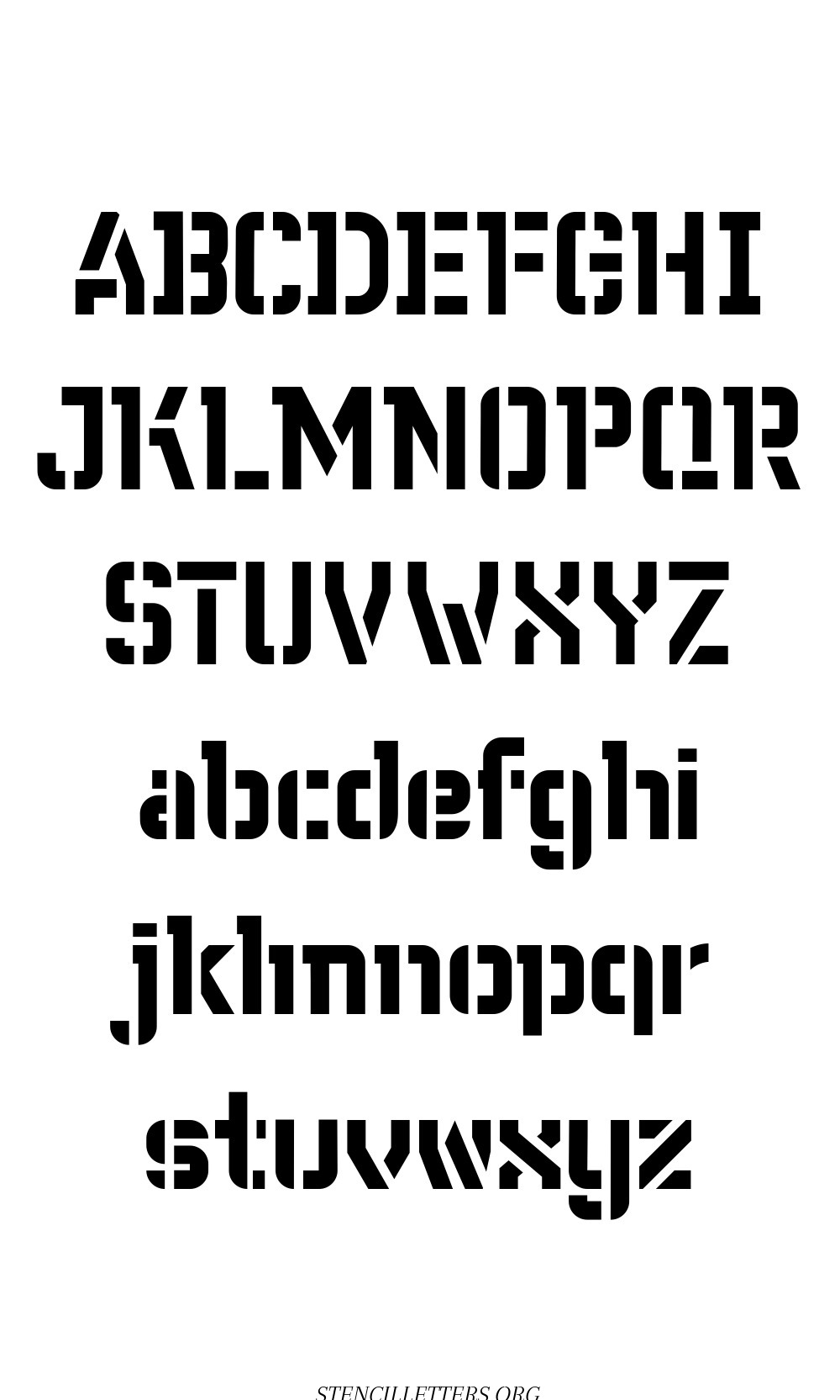 Fore Front Futuristic free printable letter stencils