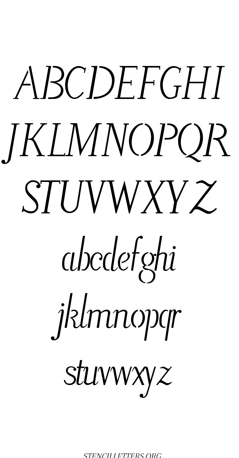 Fountain Pen Calligraphy free printable letter stencils