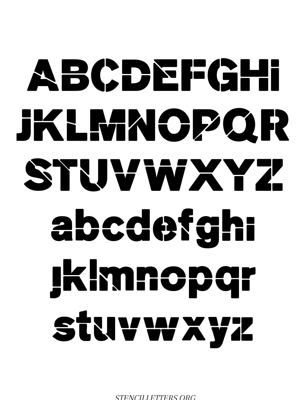 Heavy Weight Bold free printable letter stencils