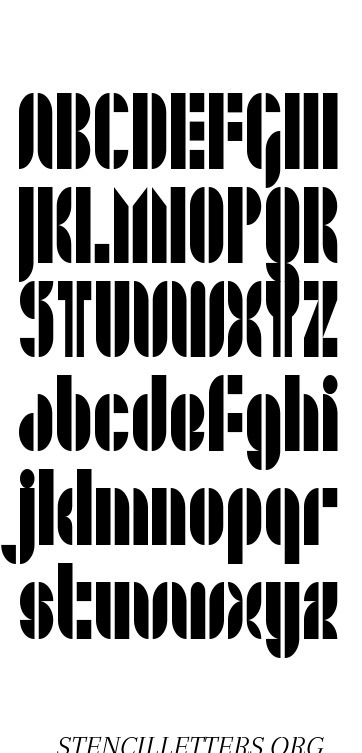 Jazzy Modern free printable letter stencils