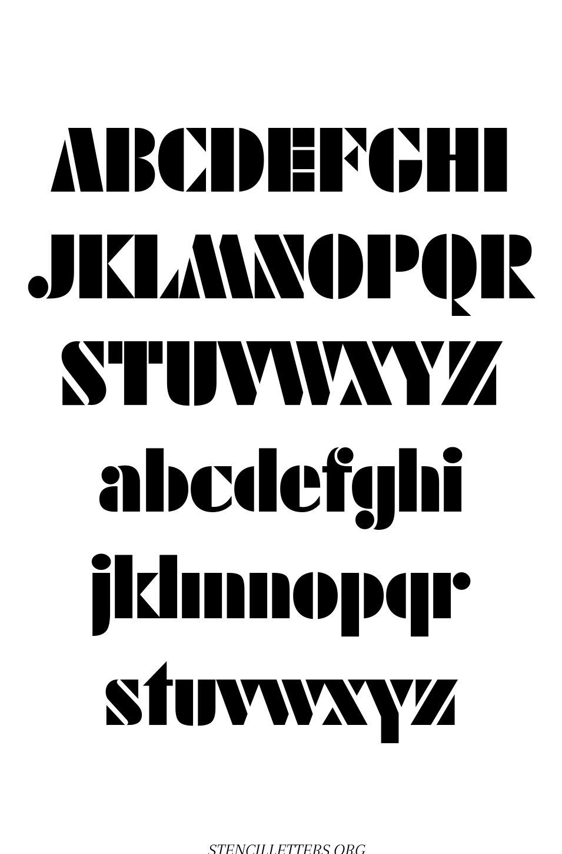 Leading Edge Futuristic free printable letter stencils