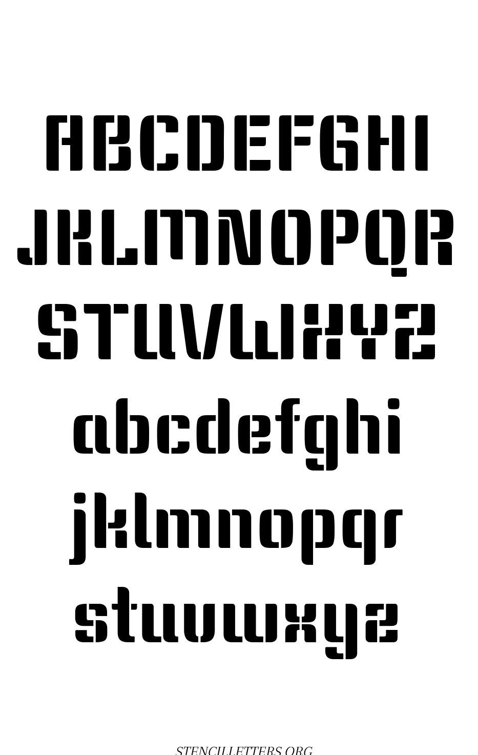 Modern Trend free printable letter stencils