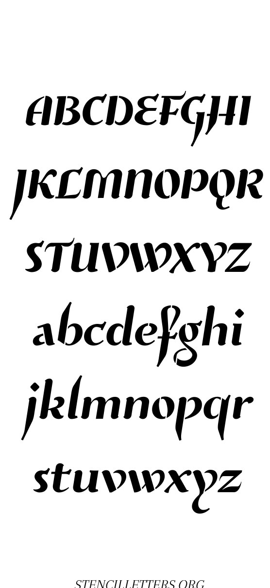 Natural Italic free printable letter stencils