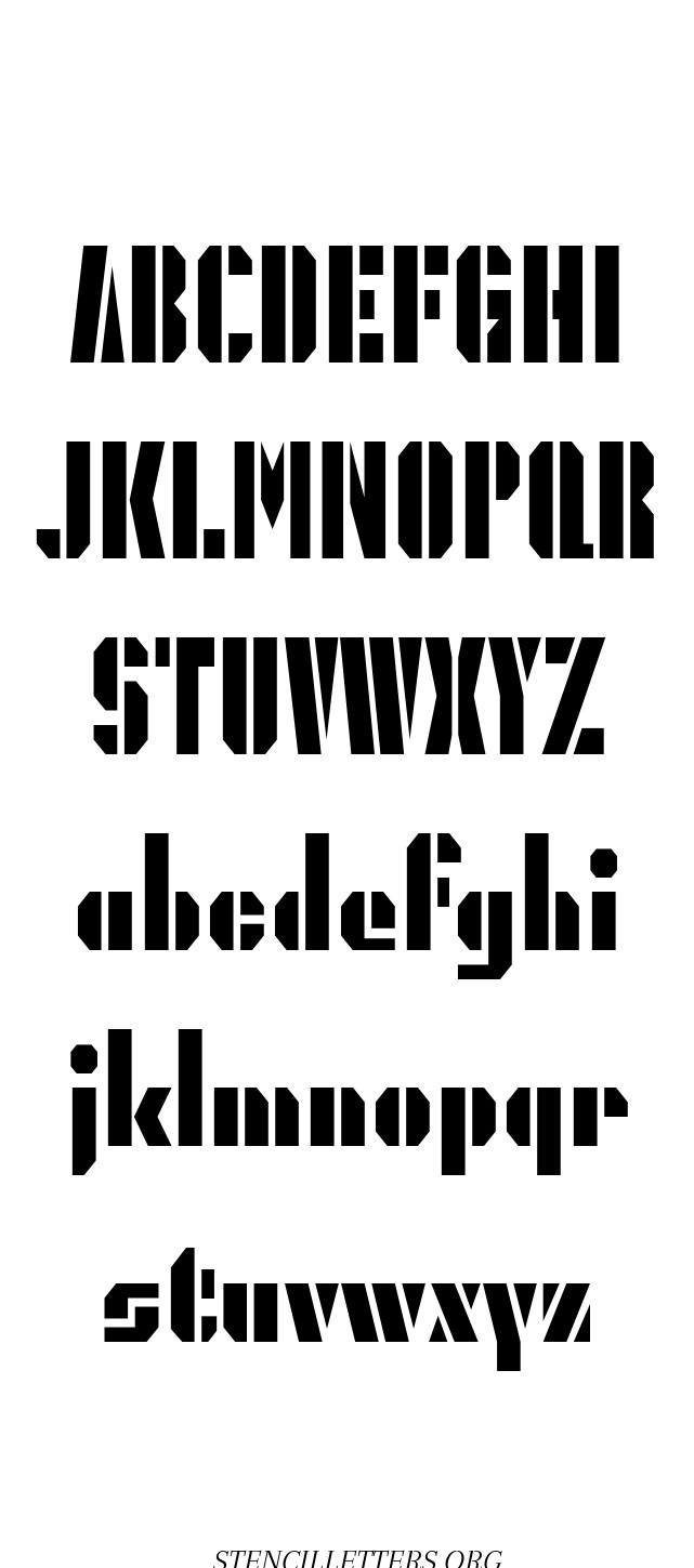 Octagonal Army free printable letter stencils