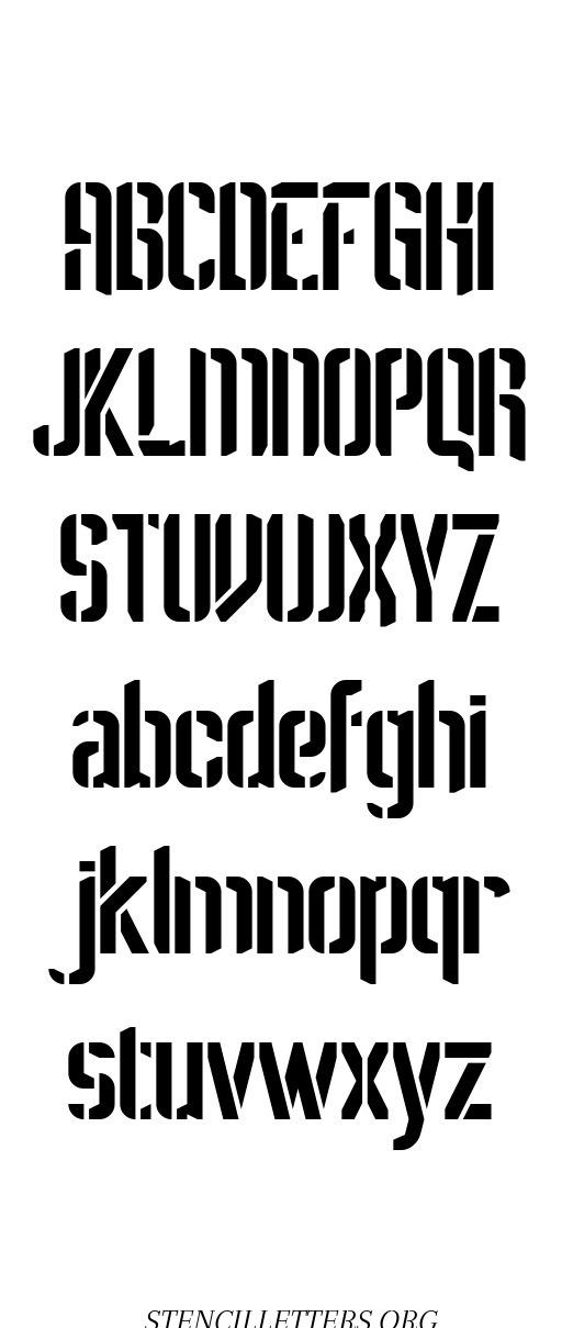Sci Fi Futuristic free printable letter stencils