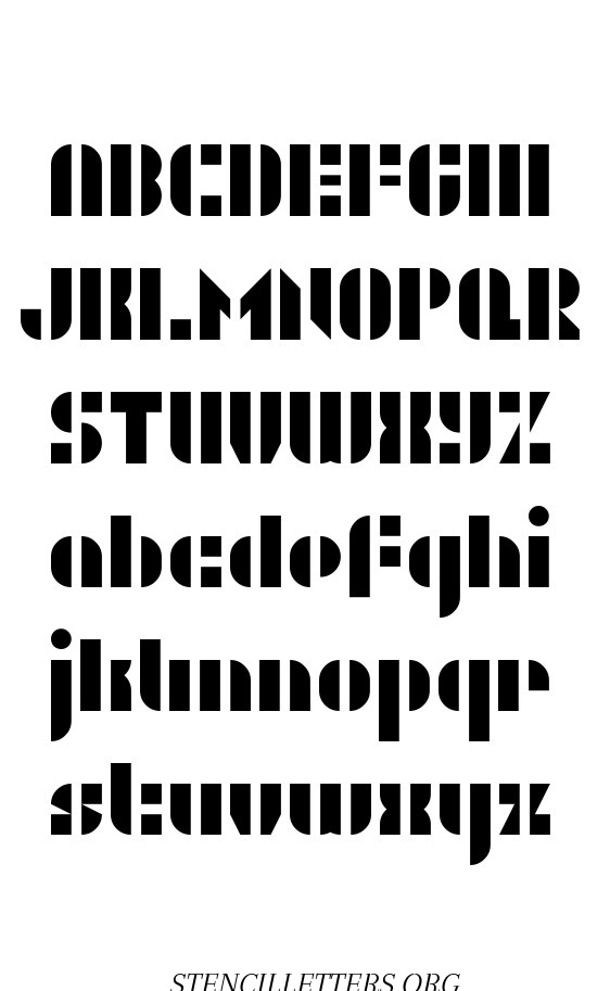 Sharp Rounded free printable letter stencils