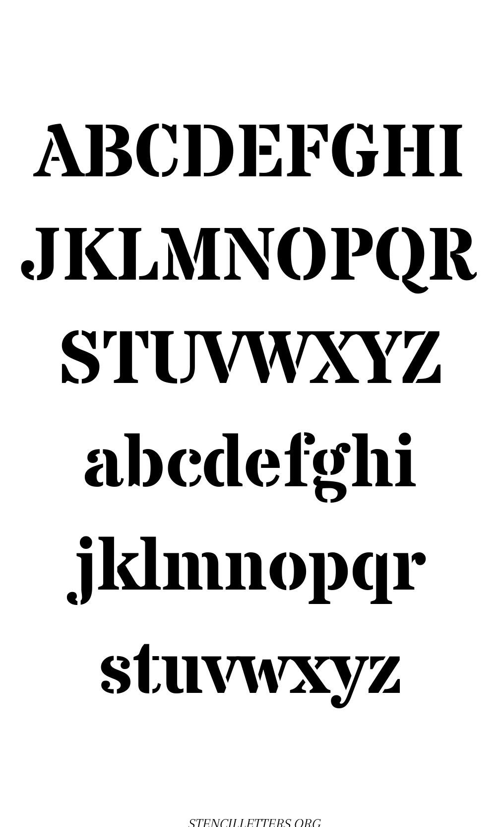 Simple Serif free printable letter stencils