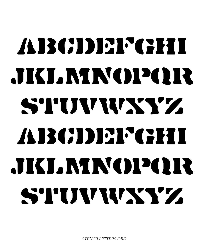 Stones Egde free printable letter stencils