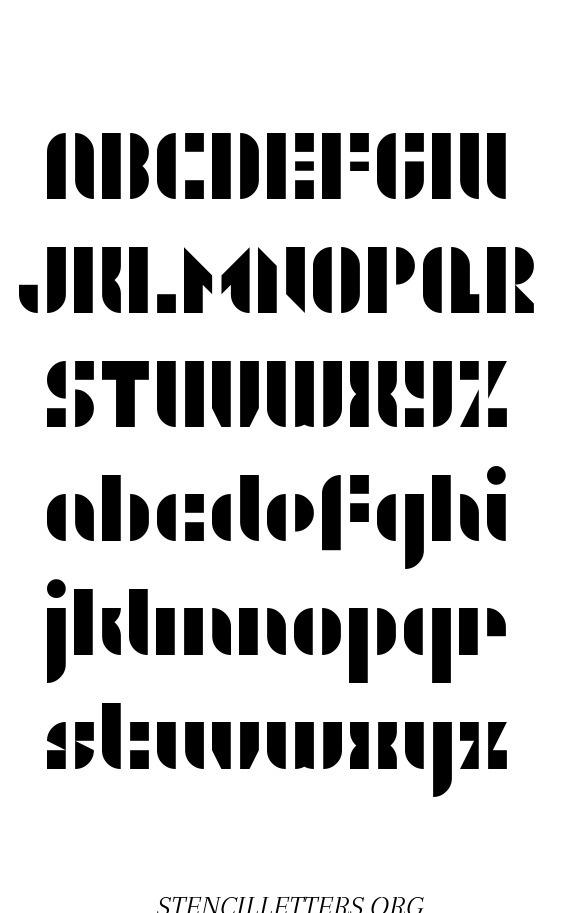 Swashy Bold free printable letter stencils
