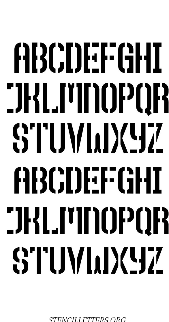 Tall Majuscule free printable letter stencils