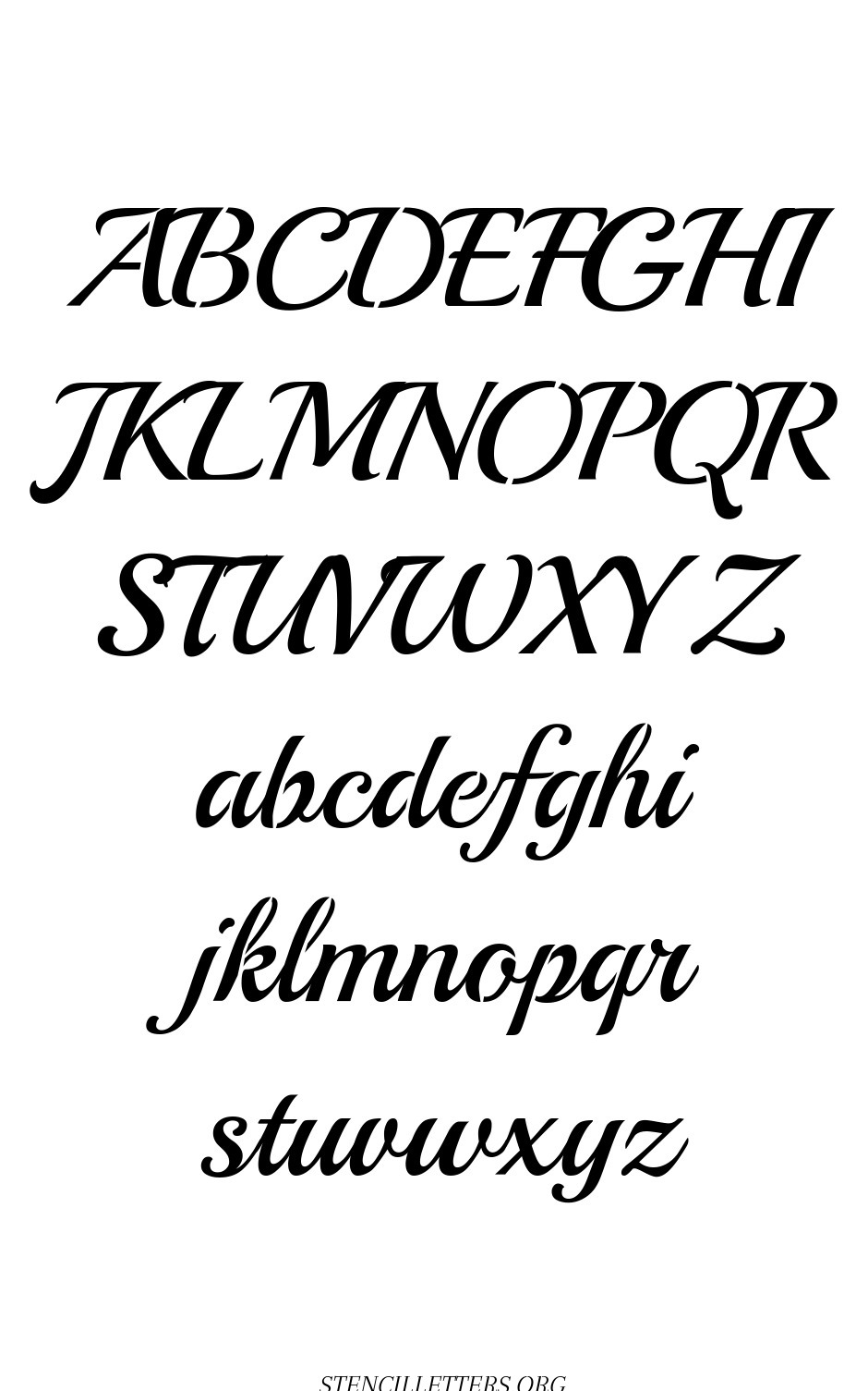 Typewriter Calligraphy free printable letter stencils