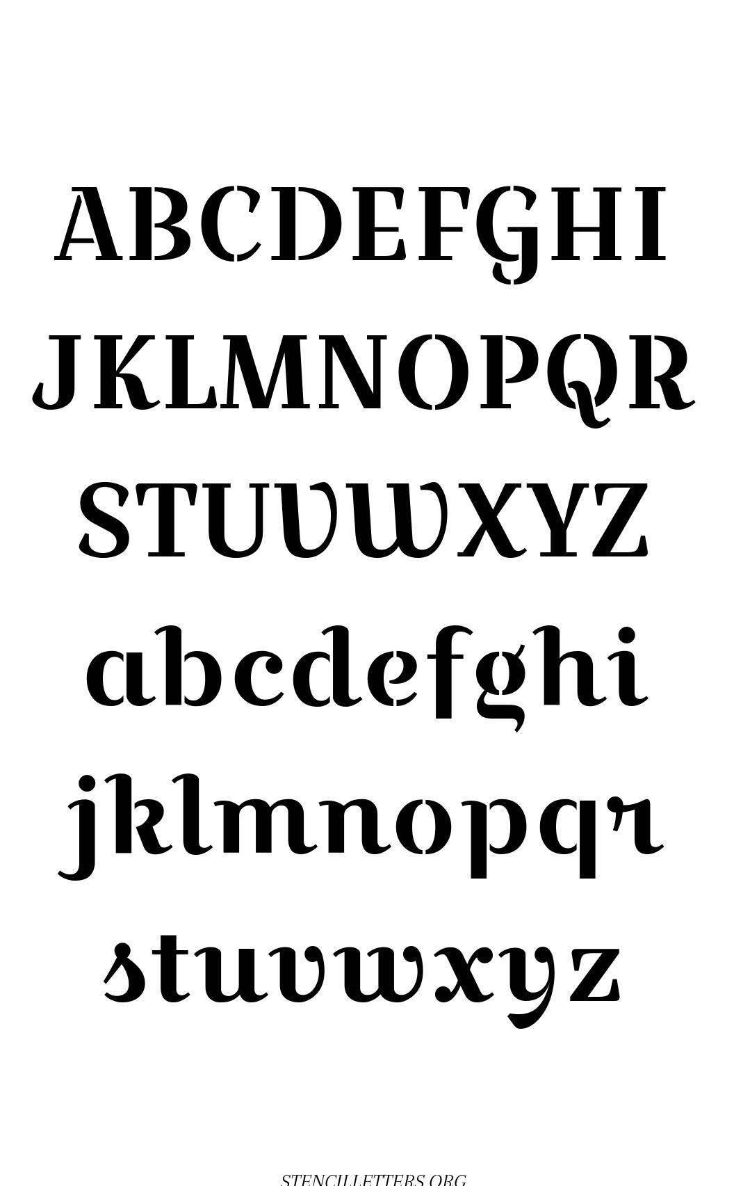 Wedding Script free printable letter stencils