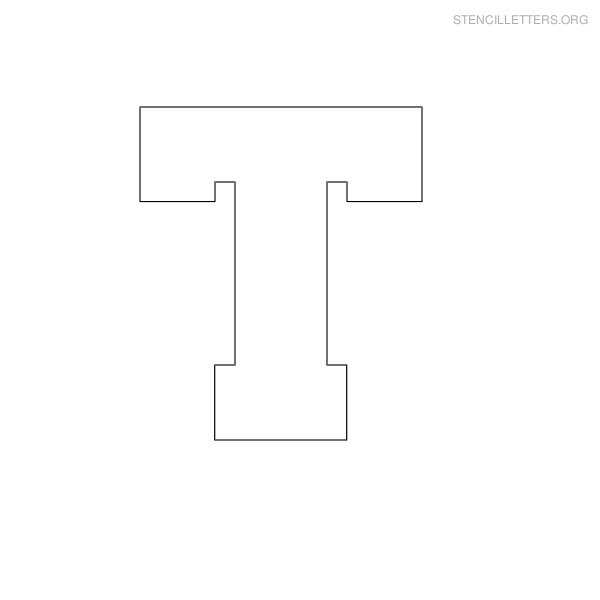 picture relating to Printable T identified as Stencil Letters T Printable Absolutely free T Stencils Stencil