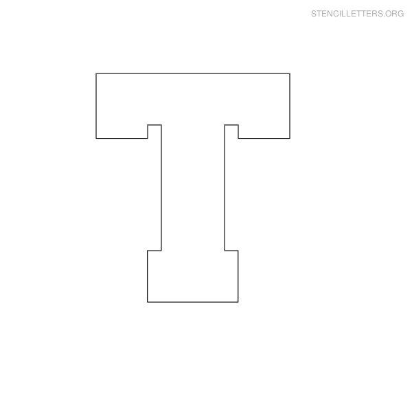 Stencil Block Letter T