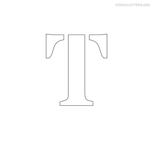 Stencil Letter Uppercase T