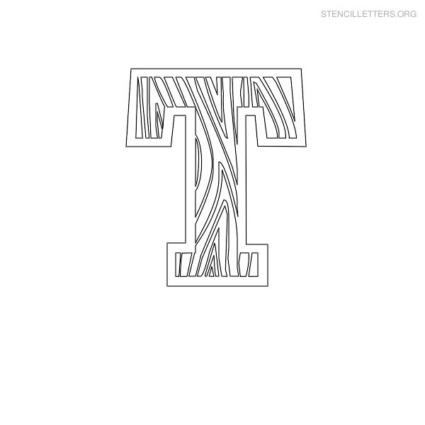 Stencil Letter Wooden T