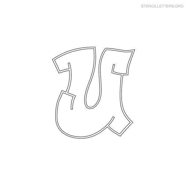 Stencil Letters U Printable Free U Stencils   Stencil Letters Org