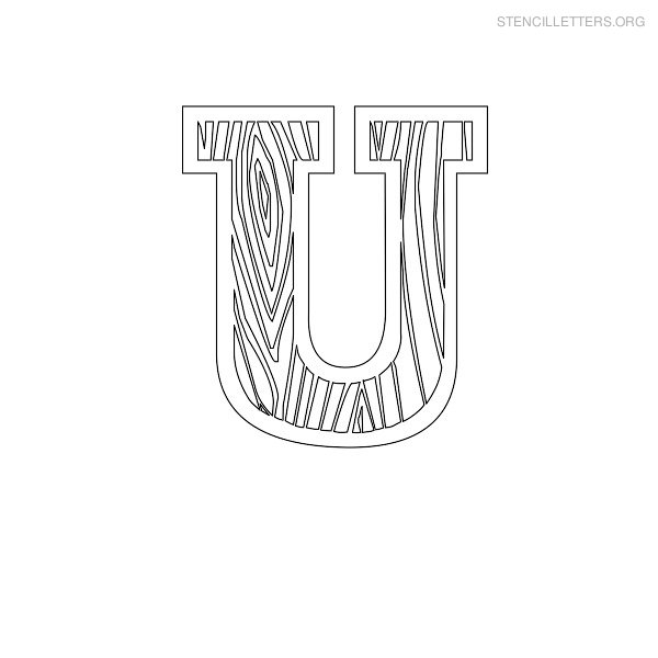 Stencil letters u printable free u stencils stencil letters org stencil letter wooden u spiritdancerdesigns Image collections