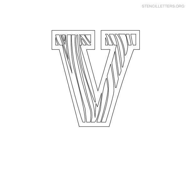 stencil letter wooden v