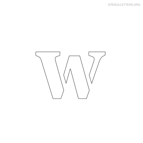 stencil letter lowercase w