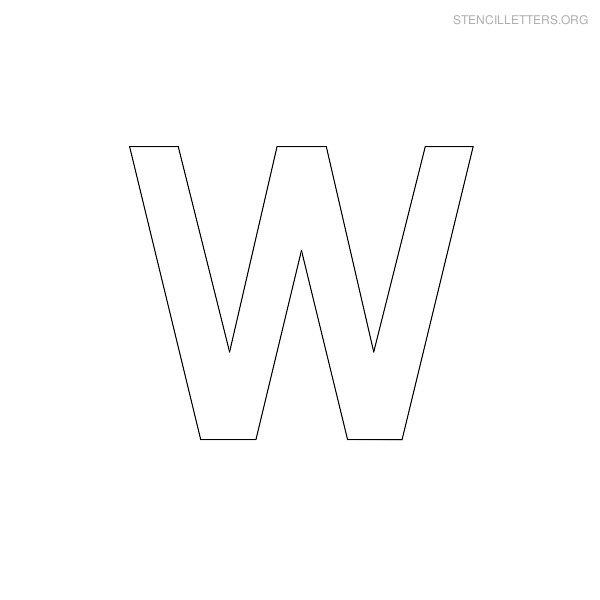 Stencil Letters W Printable Free W Stencils | Stencil ...