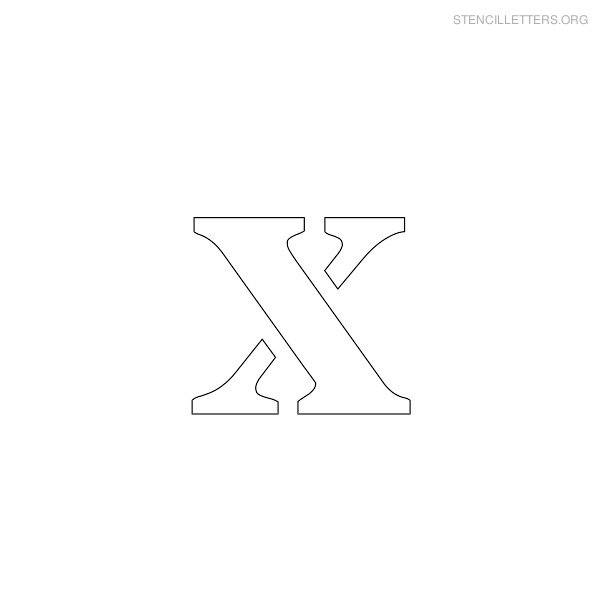 Stencil Letter Lowercase X