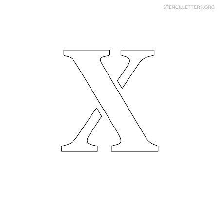 stencil letters x printable free x stencils stencil letters org