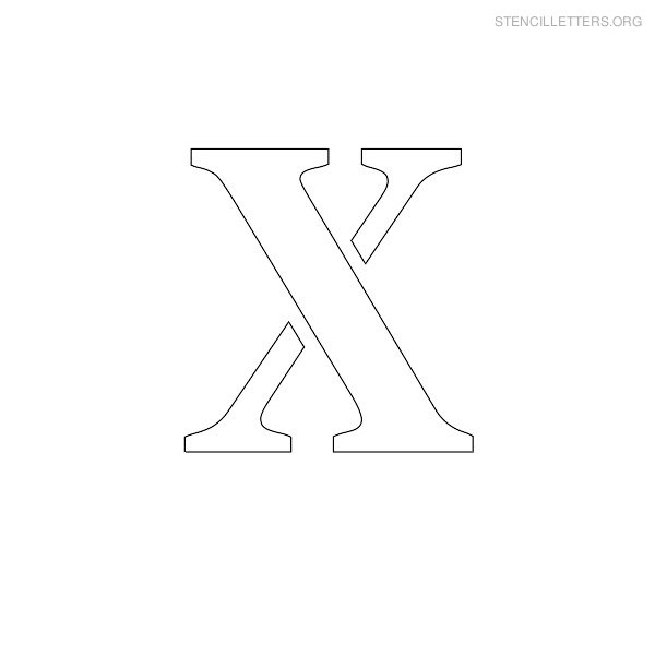 Stencil Letter Uppercase X