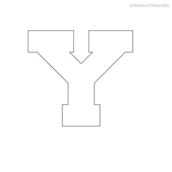 Stencil Letters Y Printable Free Y Stencils | Stencil Letters Org