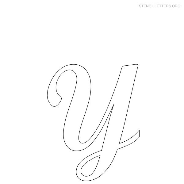 Full Size | More free printable cursive letter stencils | Source Link