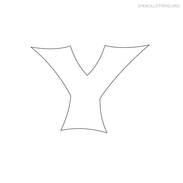 Stencil Letter Japanese Y