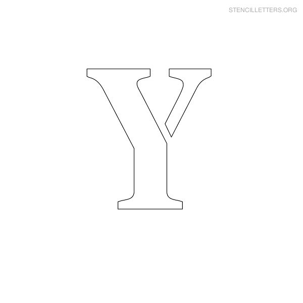Stencil Letter Uppercase Y