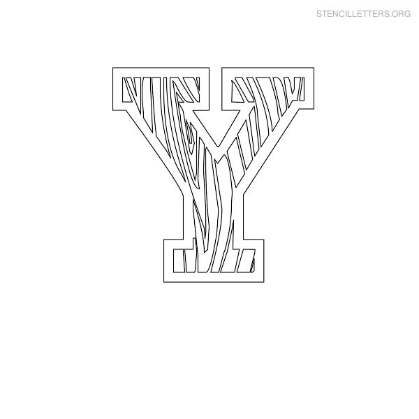 Stencil Letter Wooden Y