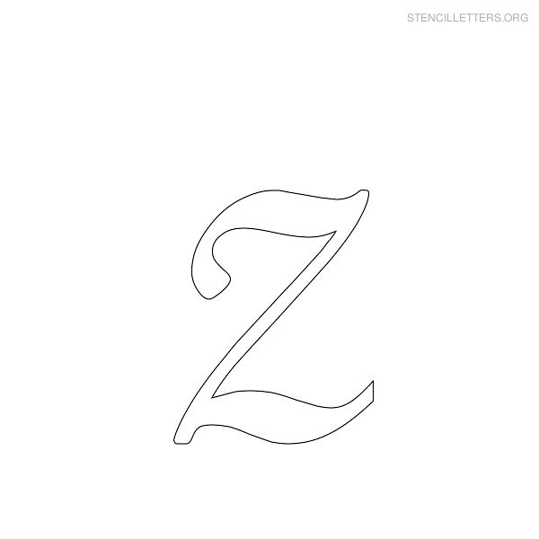 Worksheets Cursize Z number names worksheets capital letter z in cursive stencil letters printable free stencils