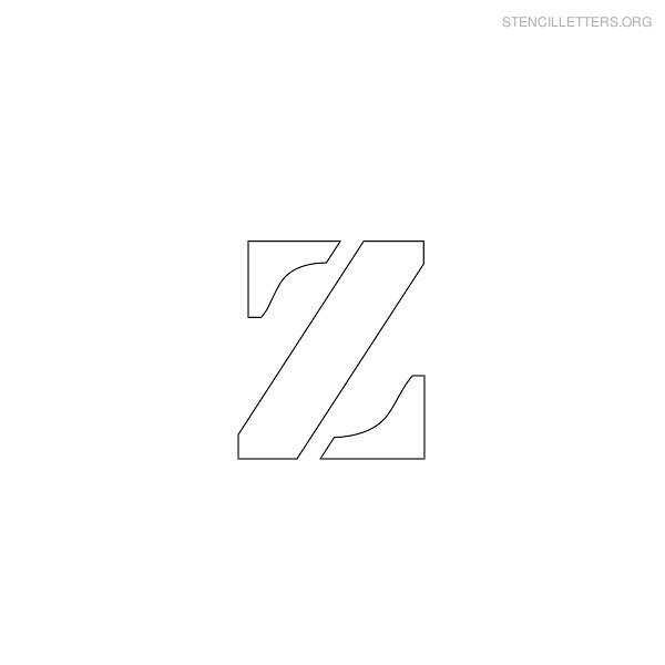 Stencil Letter Lowercase Z