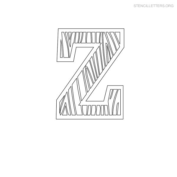 Stencil Letters Z Printable Free Z Stencils | Stencil Letters Org
